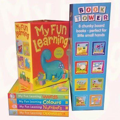 My Fun Learning and Book Towers 12 Books Bundle Collection With Box Set - The Book Bundle