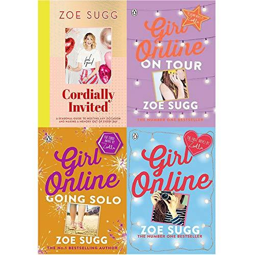 Zoe sugg collection 4 books set (cordially invited [hardcover], girl online, on tour, going solo) - The Book Bundle