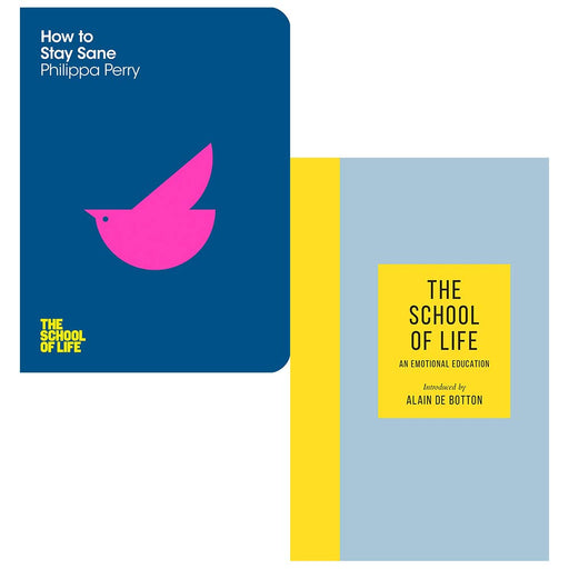 How To Stay Sane, The School of Life An Emotional Education 2 Books Collection Set - The Book Bundle
