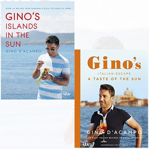Gino's Islands in the Sun and A Taste of the Sun Gino D'Acampo 2 Books Bundle Collection - The Book Bundle