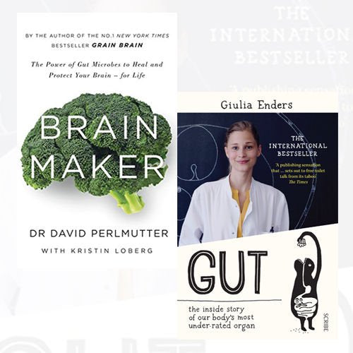 Gut and Brain Maker Collection 2 Books Bundle (Gut, Brain Maker: The Power of Gut Microbes to Heal and Protect Your Brain - for Life) - The Book Bundle