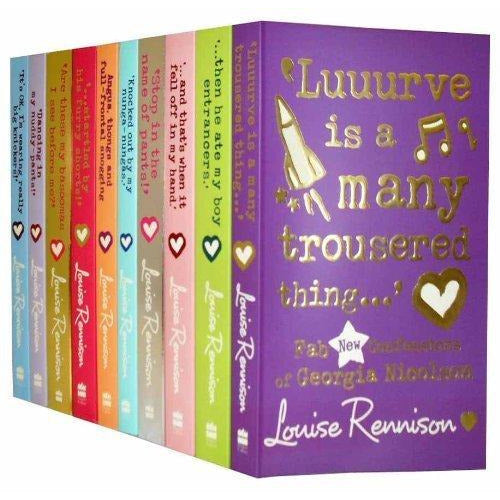 Louise Rennison Collection 10 Books Set Georgia Nicolson Series - The Book Bundle