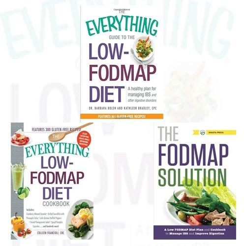 Low FODMAP Diet Plan and Cookbook  3 Books Collection Set Everything Guide,Solution, - The Book Bundle