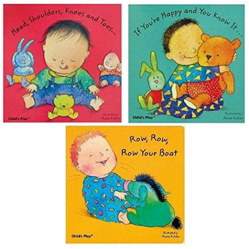 Baby Board Books 3 Books Pack ( If You're Happy and You Know it... ,Head, Shoulders, Knees and Toes... , Row, Row, Row Your Boat ) - The Book Bundle