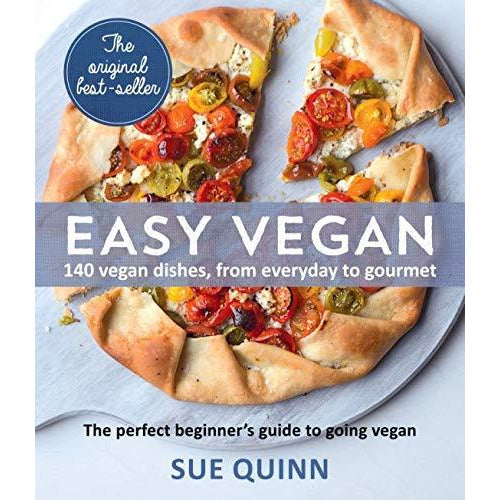 Easy Vegan: 140 Delicious and inspiring recipes Paperback By Sue Quinn - The Book Bundle