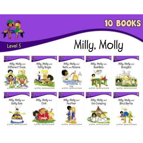 Milly Molly: Level 5 - 10 Books - The Book Bundle