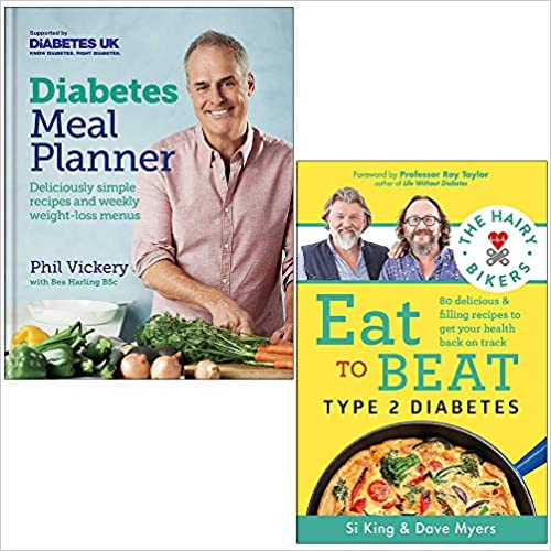 Diabetes Meal Planner & The Hairy Bikers Eat to Beat Type 2 Diabetes  2 Books Collection Set - The Book Bundle
