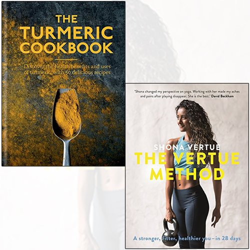 the turmeric cookbook [hardcover], the vertue method 2 books collection set - The Book Bundle