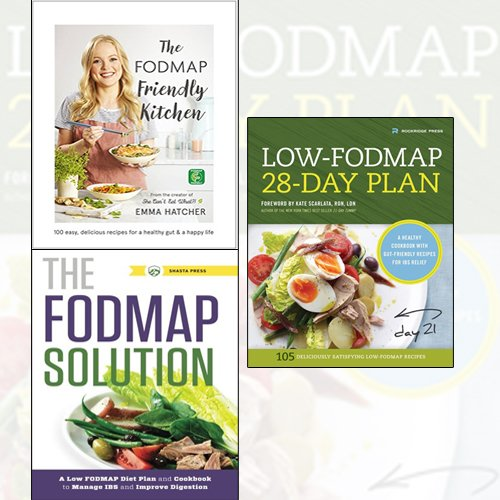 The FODMAP Friendly Kitchen Cookbook [Hardcover],Low-Fodmap 28-Day Plan,The FODMAP Solution 3 Books Collection Set - The Book Bundle
