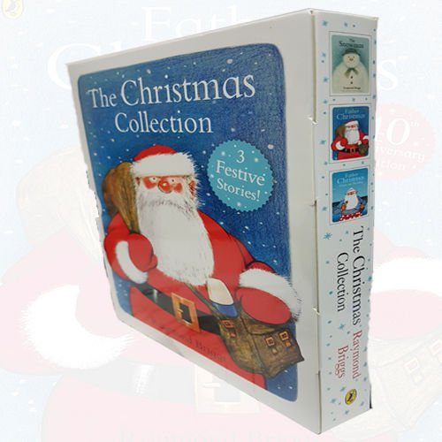 Christmas Collection 3 Books Set By Raymond Briggs (Father Christmas Goes on Holiday, Father Christmas, The Snowman) - The Book Bundle