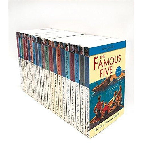 Enid Blyton Famous Five Series, 21 Books Box Collection Pack Set - The Book Bundle