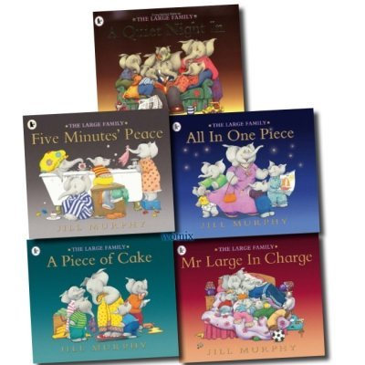 The Large Family 5 Children books Set Collection (A Quiet Night In, A Piece of Cake, All In One Piece, Mr Large In Charge, Five Minutes' Peace) - The Book Bundle