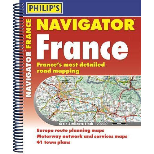 Philip's Navigator Road Atlas France: (Spiral binding) - The Book Bundle