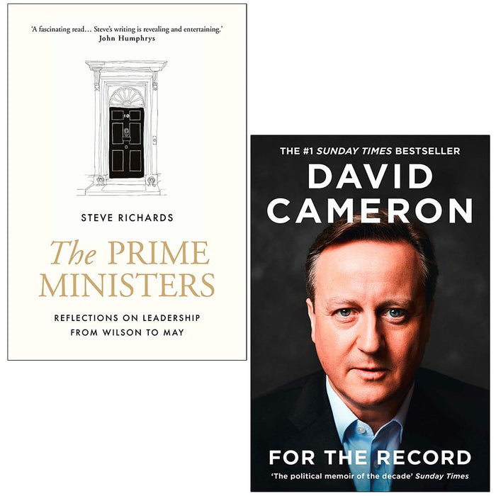 The Prime Ministers, For the Record 2 Books Collection Set - The Book Bundle
