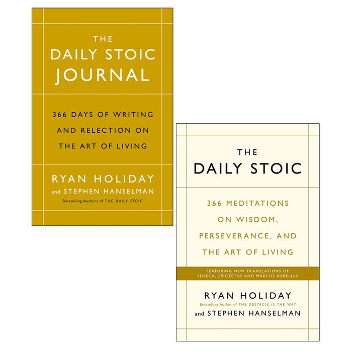 The Daily Stoic 366 Meditations on Wisdom, Journal 2 Books Collection Set By Ryan Holiday - The Book Bundle