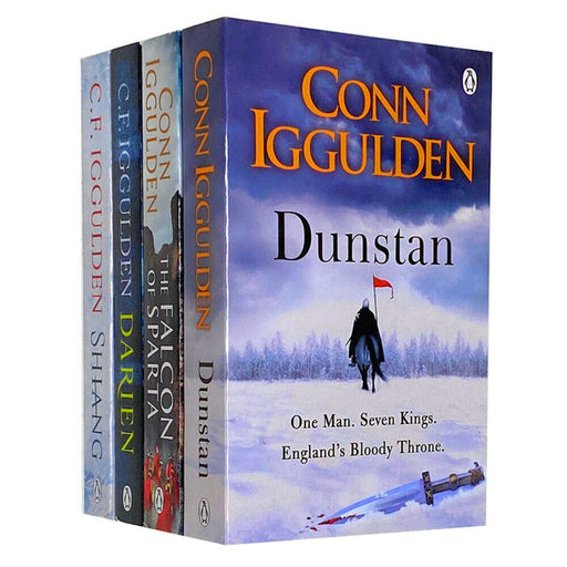Conn Iggulden Series 4 Books Collection Set Darien, Shiang, The Falcon of Sparta, Dunstan - The Book Bundle