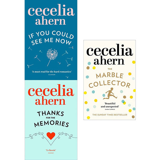 Cecelia ahern series 3 : 3 books collection set pack (if you could see me now, thanks for the memories, the marble collector) - The Book Bundle