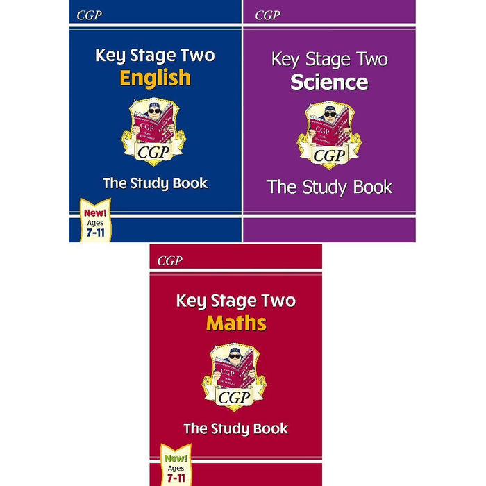 Key Stage Two The Study Book 3 Books Bundles Collection Set- KS2 Maths Study Book,KS2 Science Study Book,Key Stage 2 English The Study Book - The Book Bundle