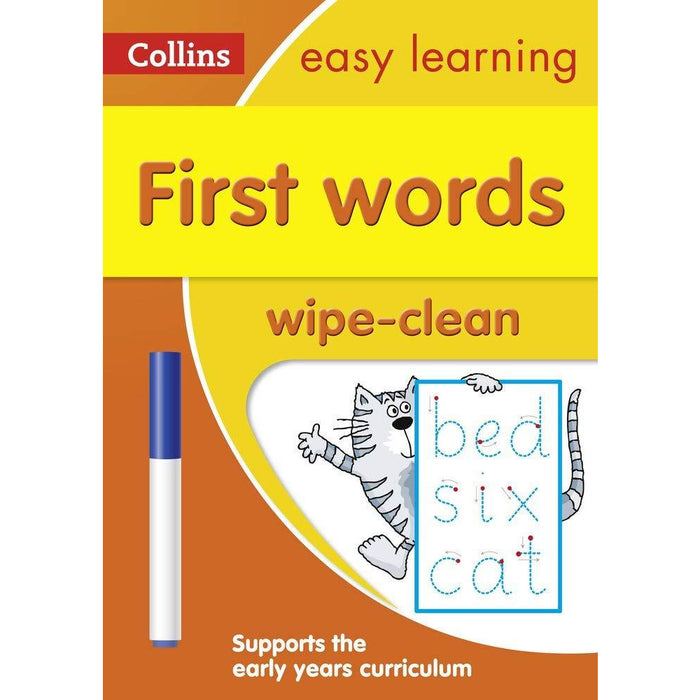 Collins Easy Learning Age 3-5 Wipe Clean Activity 3 Books Collection Set - The Book Bundle