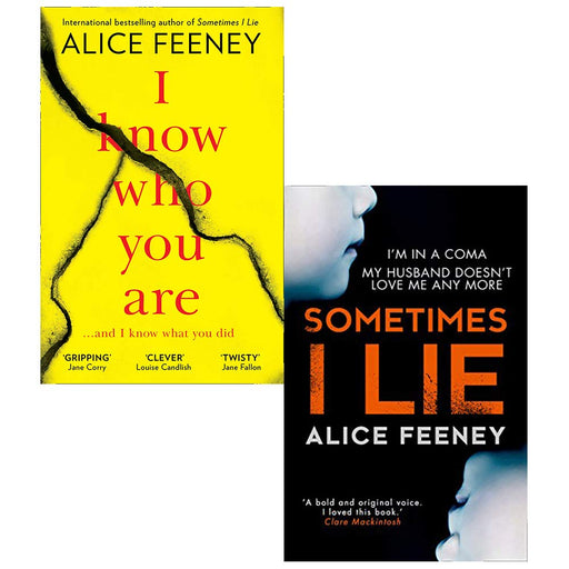 Alice Feeney Collection 2 Books Set (I Know Who You Are, Sometimes I Lie) - The Book Bundle