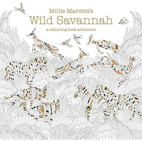 Millie Marotta's Wild Savannah: A Colouring Book Adventure (Colouring Books) - The Book Bundle