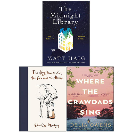 The Midnight Library [Hardcover], The Boy The Mole The Fox and The Horse [Hardcover], Where the Crawdads Sing 3 Books Collection Set - The Book Bundle
