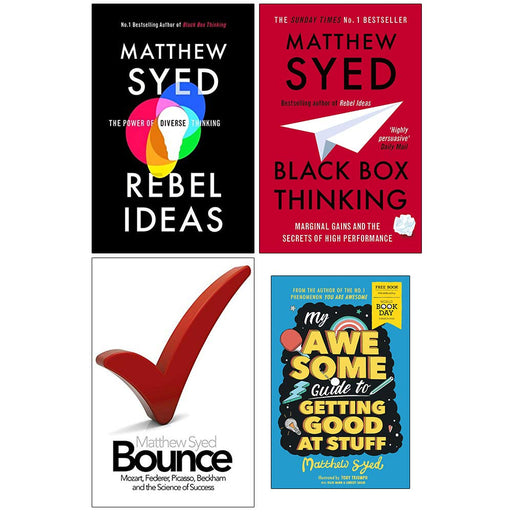 Matthew Syed Collection 4 Books Set (Rebel Ideas The Power of Diverse Thinking, Black Box Thinking, Bounce The Myth of Talent) - The Book Bundle