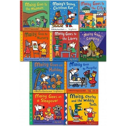 Maisy mouse first experiences 10 books collection pack set by lucy cousin - The Book Bundle