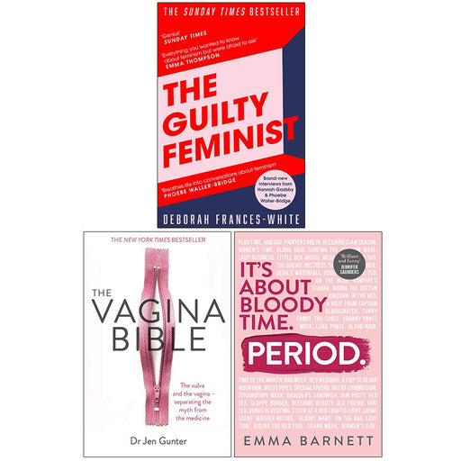 The Guilty Feminist, The Vagina Bible, [Hardcover] Period 3 Books Collection Set - The Book Bundle