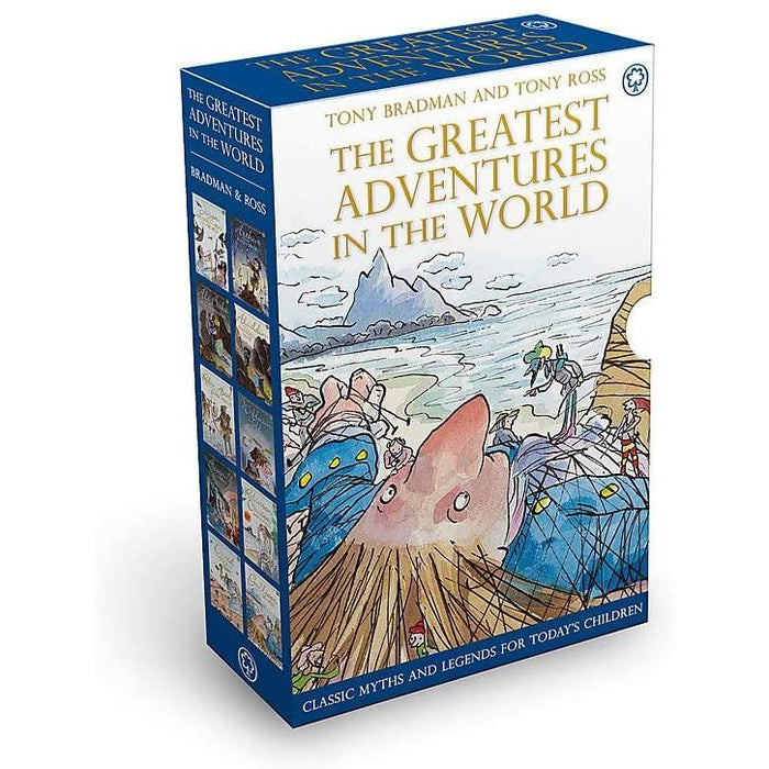 Tony Bradman The Greatest Adventures in the World 10 copy slipcase - The Book People - The Book Bundle