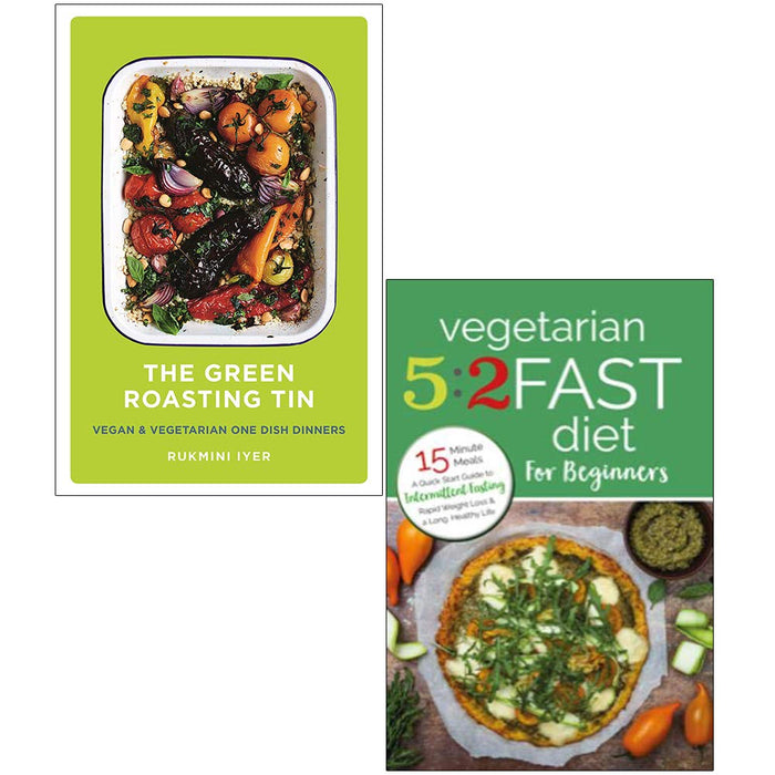 The Green Roasting Tin [Hardback], Vegetarian 5:2 Fast Diet for Beginners 2 Books Collection Set - The Book Bundle