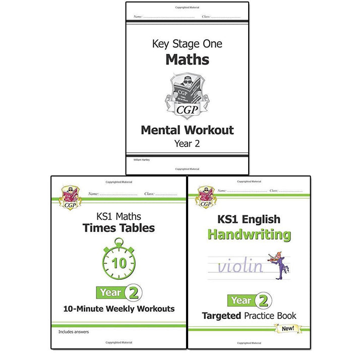 KS1 New Curriculum Year 2 Collection CGP Books 3 Books Bundle - The Book Bundle