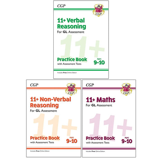 CGP 11+ Gl Verbal,Non-Verbal Reasoning,Maths Practice 3 Books Collection Set - The Book Bundle