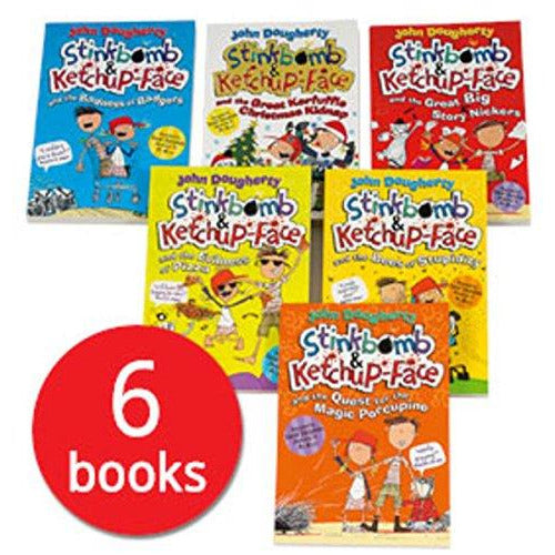 Stinkbomb and Ketchup-Face Collection - 6 Books - The Book Bundle