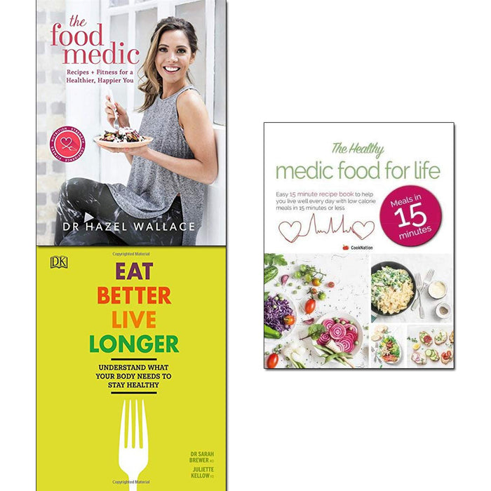 Food medic [hardcover], eat better live longer [hardcover] and healthy medic food for life 3 books collection set - The Book Bundle