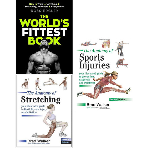 Worlds fittest book, anatomy of stretching and sports injuries 3 books collection set - The Book Bundle