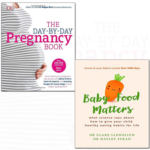 Baby food matters and day-by-day pregnancy [hardcover] 2 books collection set - The Book Bundle