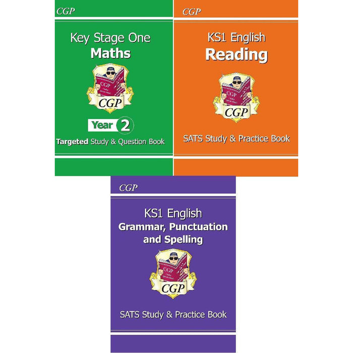 CGP New KS1 Study & Practice Book Collection 3 Books Bundle - The Book Bundle