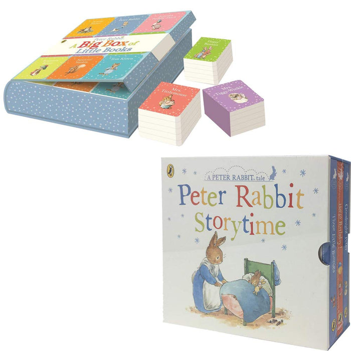 Peter Rabbit: A Big Box Of Little Books [Hardcover] & Peter Rabbit Story Time 5 Books Collection Set - The Book Bundle