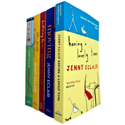 Jenny Eclair 5 Books Collection Set Having A Lovely Time, Moving, Listening In - The Book Bundle