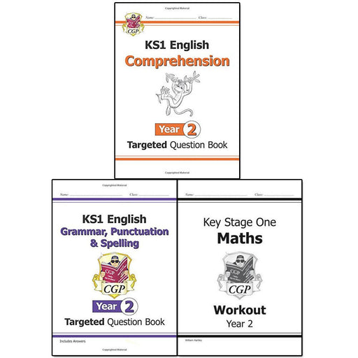 CGP Books KS1 New Curriculum Year 2 Collection 3 Books Set - The Book Bundle