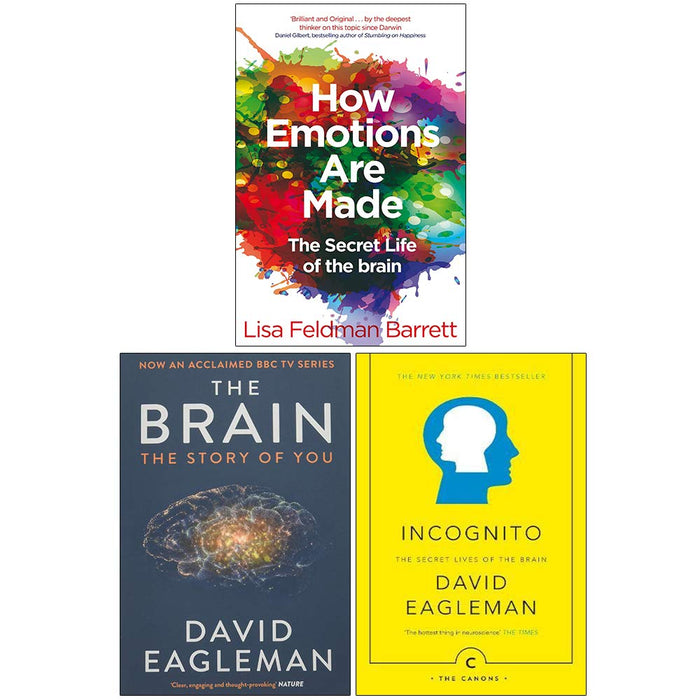How Emotions Are Made, The Brain The Story of You, Incognito The Secret Lives of The Brain 3 Books Collection Set - The Book Bundle