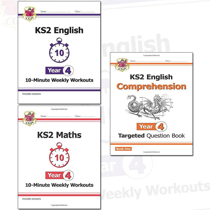KS2 New Curriculum Year 4 CGP Books Collection 3 Books Set - The Book Bundle