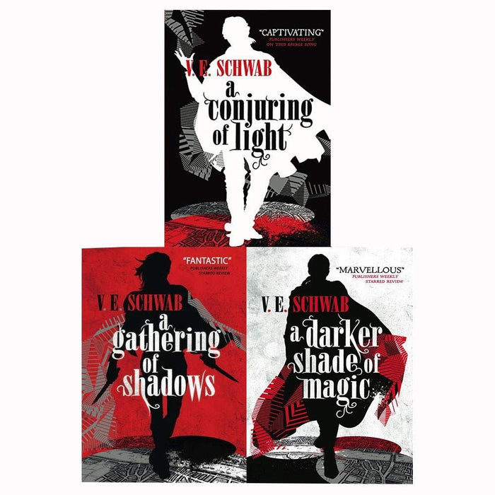 A Darker Shade Of Magic Trilogy 3 Books Set By V.E Schwab, Gathering Of Shadows - The Book Bundle