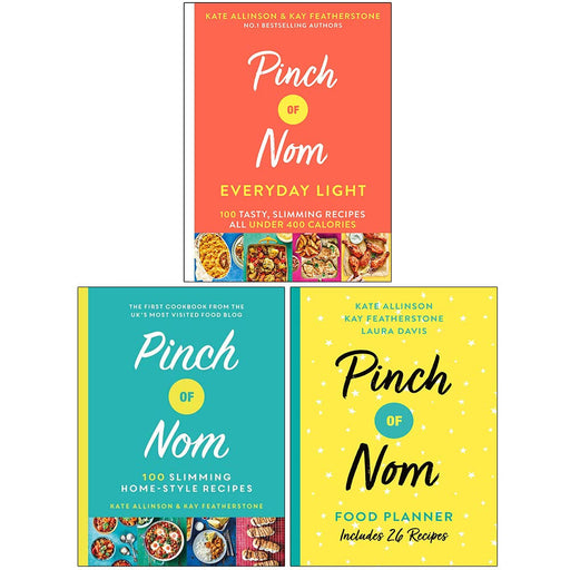 Pinch of Nom Collection 3 Books Set (Everyday Light [Hardcover], Pinch of Nom [Hardcover] & Food Planner) - The Book Bundle