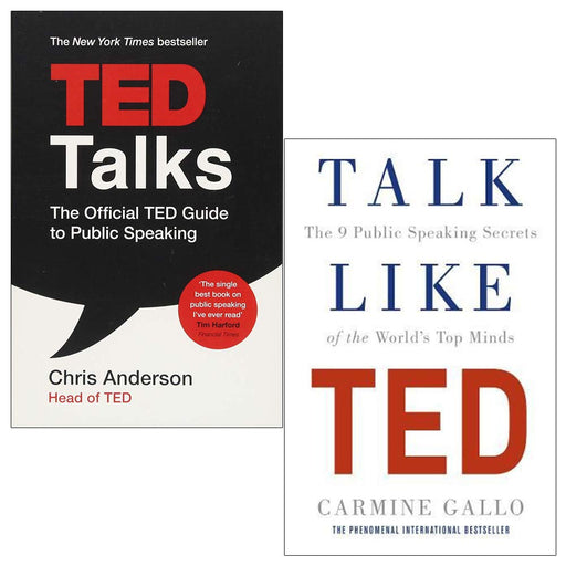 Ted Talks and Talk Like TED 2 Books Collection set (TED Talks: The official TED guide to public speaking ,Talk Like TED: The 9 Public Speaking Secrets of the World's Top Minds) - The Book Bun