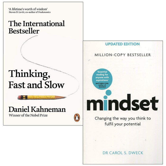 Thinking, Fast and Slow By Daniel Kahneman & Mindset - The Book Bundle