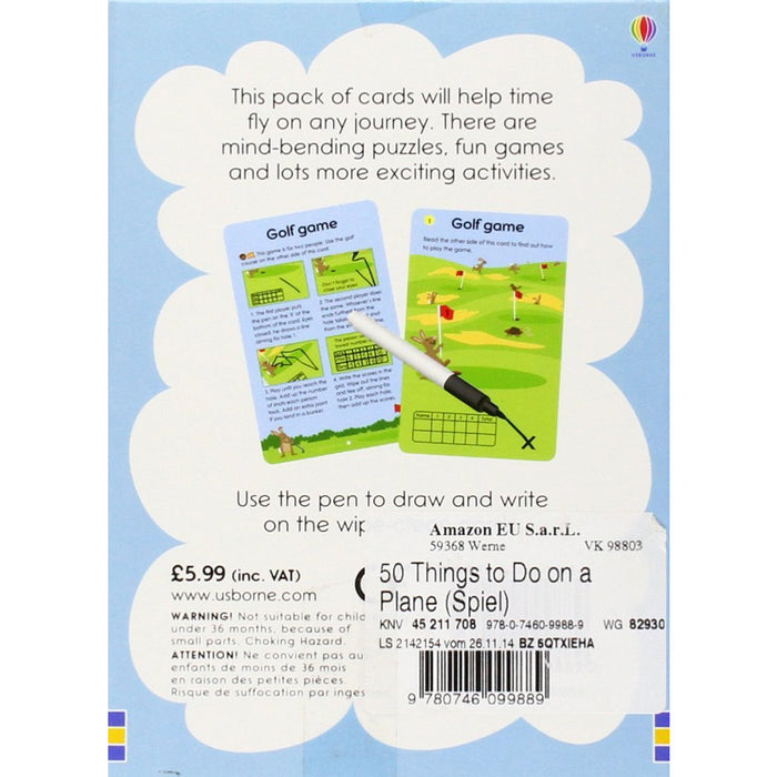 50 Things to Do on a Plane (Usborne Activity Cards) (Activity and Puzzle Cards) - The Book Bundle