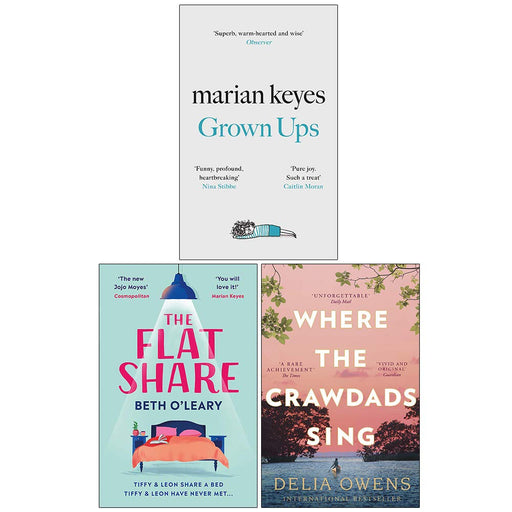 Grown Ups [Hardcover], The Flatshare, Where the Crawdads Sing 3 Books Collection Set - The Book Bundle