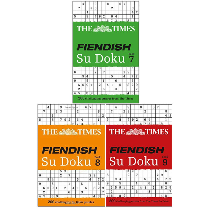 The Times Fiendish Su Doku Book (7-9) Series 2 :3 Books Collection Set - The Book Bundle